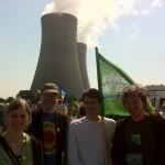 Im Bild von links nach rechts: Anne Kura (Parteirat Grüne Niedersachsen), Christian Meyer (MdL), Sven-Christian Kindler (MdB) und Jan Haude (Landesvorsitzender Grüne Niedersachsen)