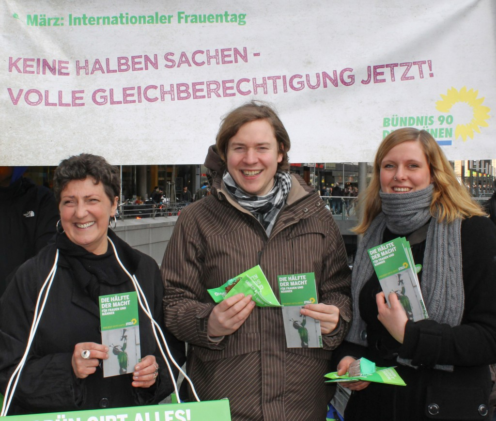 Anja Piel, Jan Haude und Carolin Jaekel am Internationalen Frauentag